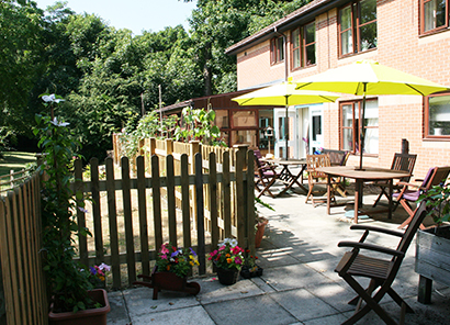 Terrace garden at The Grove