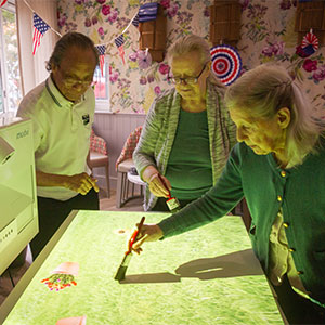 Residents at Lyle House Care Home enjoy the benefits of their brand-new Mobii sensory projector