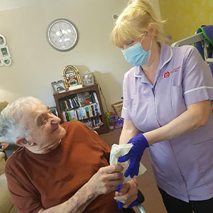 Staff and residents at Belmont House celebrate Carers Week