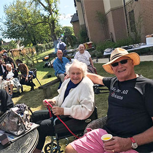 Residents at Fenchurch House welcomed visitors to a successful summer fair