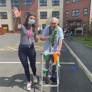 Residents at Lostock Lodge complete sixty-six lap fundraiser