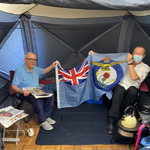 Residents at Neale Court Care Home enjoy a camping 'Staycation'