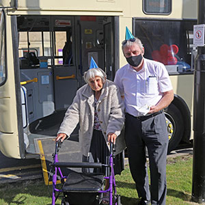 Rose Lodge Care Home residents take the bus back to school